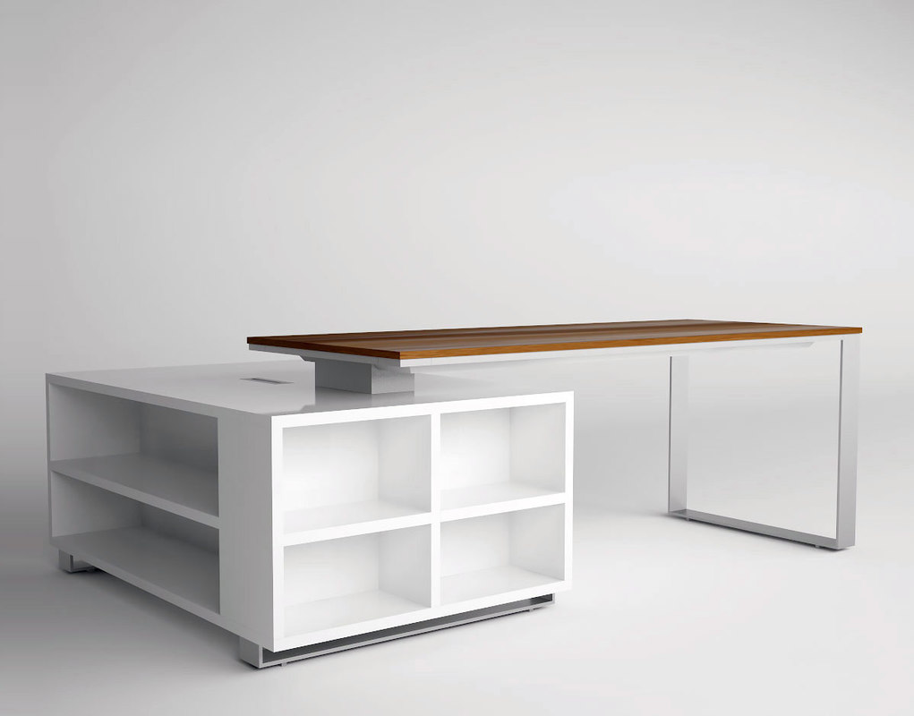 modern office desk 3d max