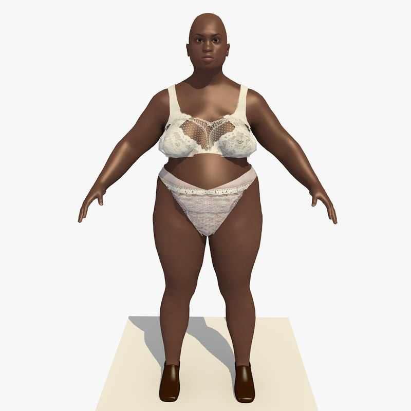 3d model realistically african woman clothes