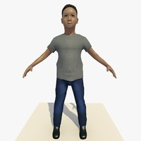 asian arab boy john 3d model