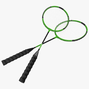 Badminton Racket 3D Model