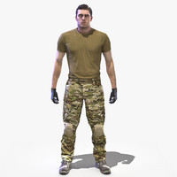 ready crye multicam 3d model