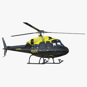 police aviation eurocopter 355 3d model