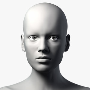 3d model female head woman character