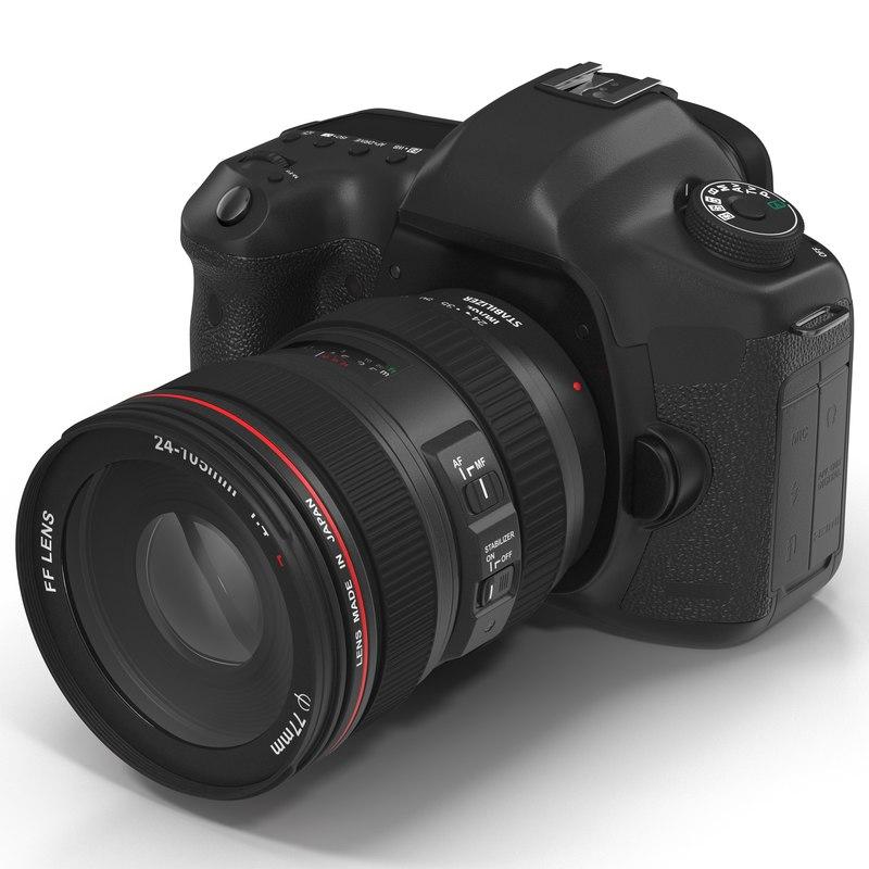 digital camera slr generic 3d model