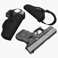 Glock 26 and Holster 3D Models