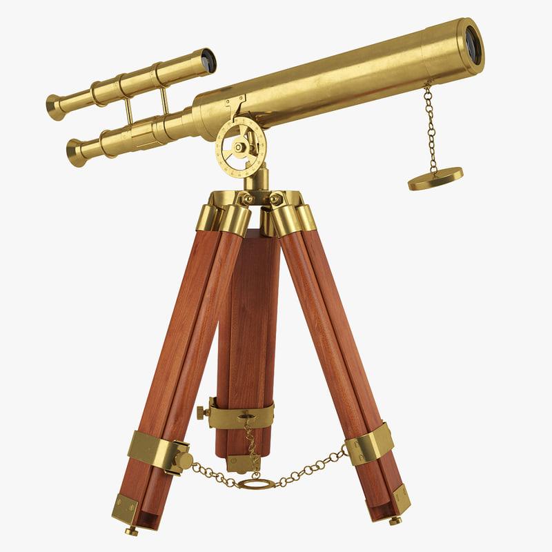 3d telescope antique