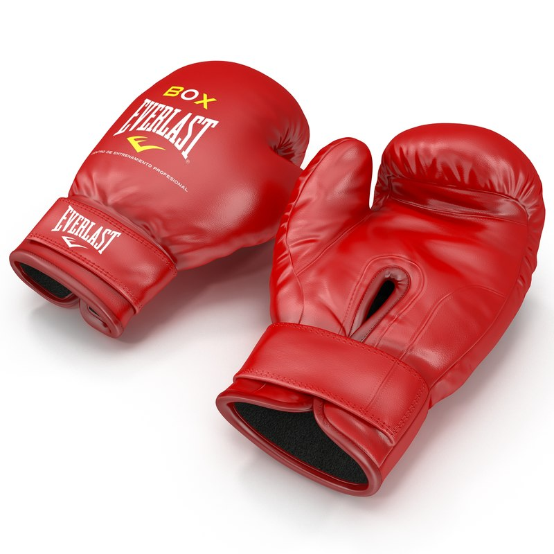 boxing gloves everlast red 3d 3ds