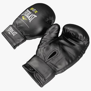 boxing gloves everlast black 3d model