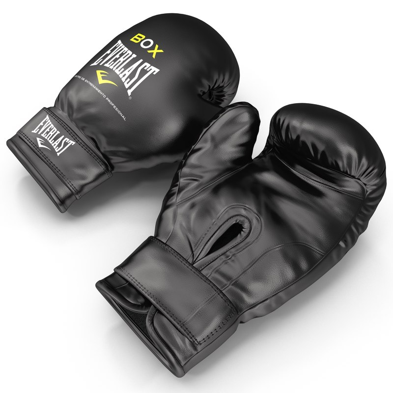 boxing gloves everlast black 3d model