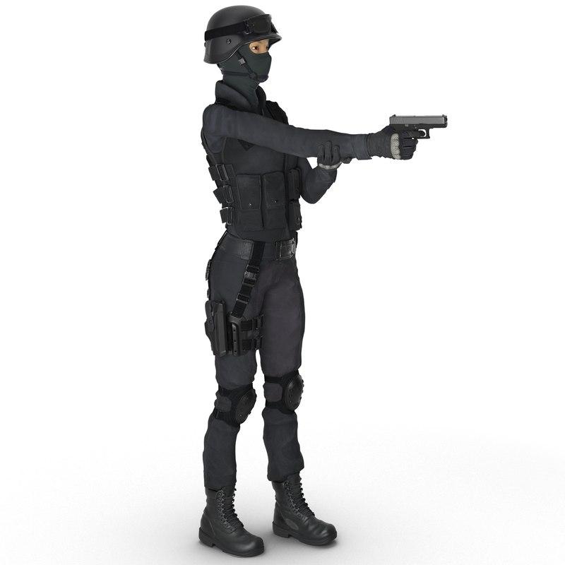 swat woman asian rigged max