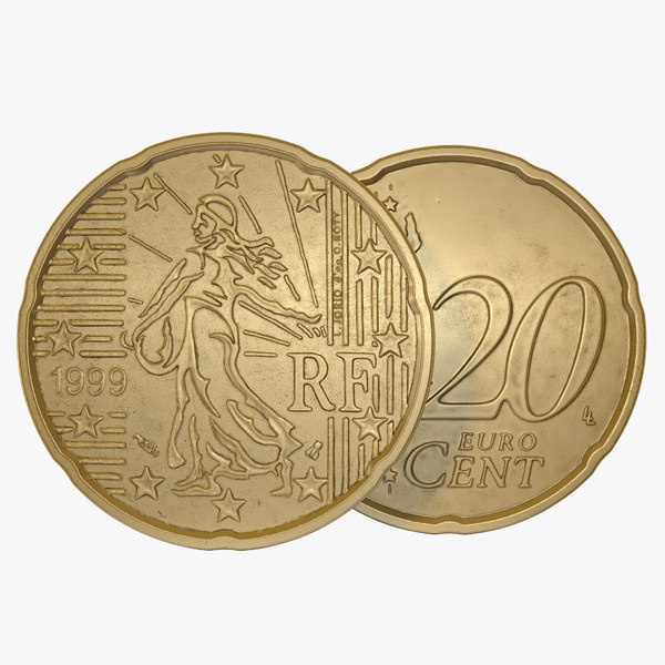 3ds max french euro coin 20