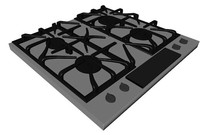 Detailed Gas Cooktop