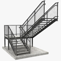 3d stairs modeled build model