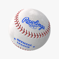 baseball ball rawlings 3d model