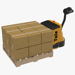 3d model powered pallet jack wooden