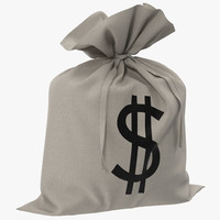 3ds money bag dollar