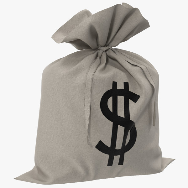 3ds money bag dollar