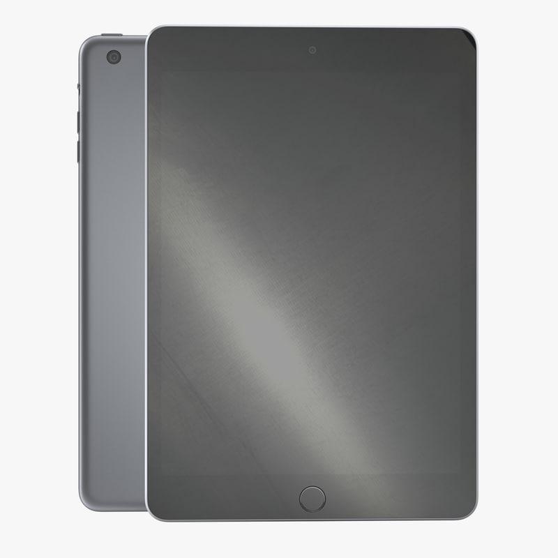 3d ipad mini 3 space model