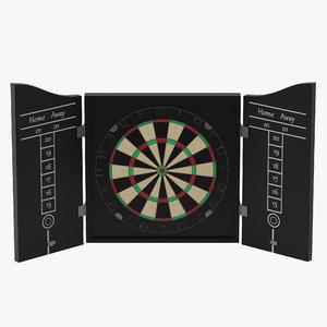 3d model dart board 3