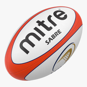 rugby ball mitre 3d model