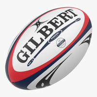 3d model rugby ball gilbert