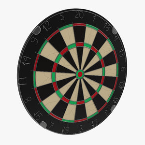 3d model dart board 4