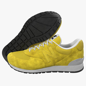 3d sneakers 5 yellow
