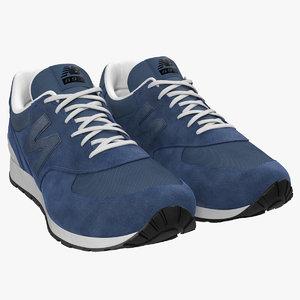 3d model sneakers 5 blue