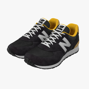 sneakers 5 black 3d model