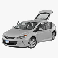 3d generic hybrid car rigged model