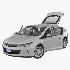 3d generic hybrid car rigged model