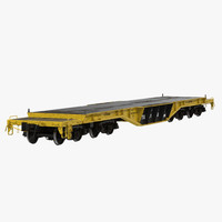 Heavy Duty Flat Car QTTX131 Yellow