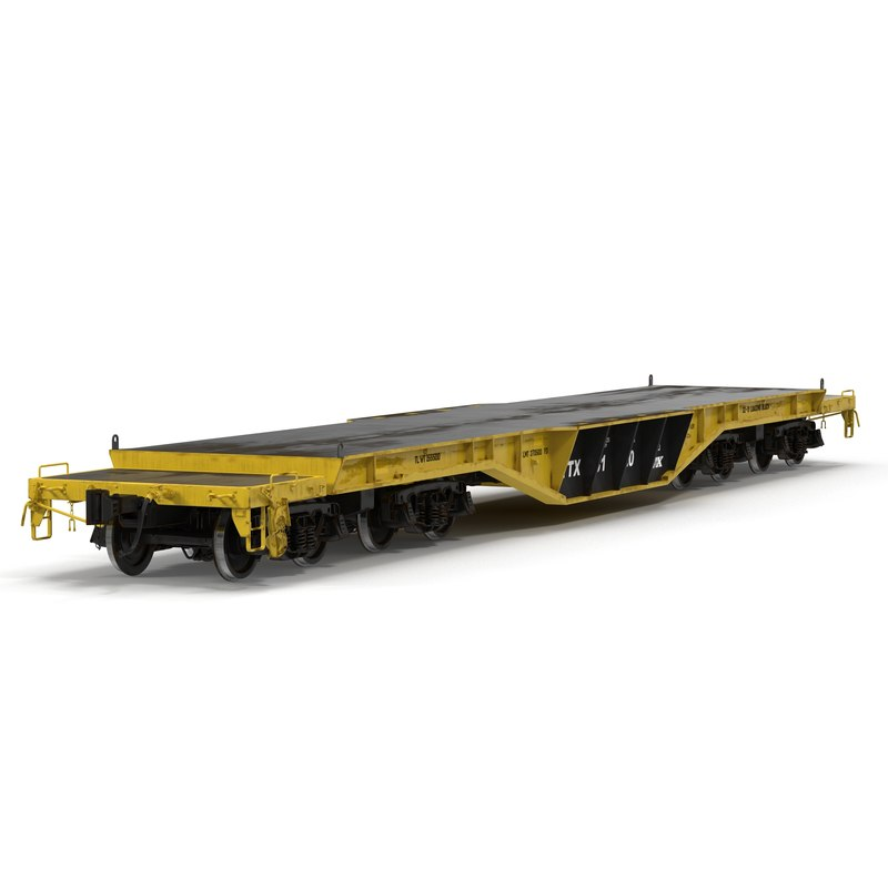 heavy duty flat car c4d
