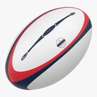 rugby ball generic 3d max