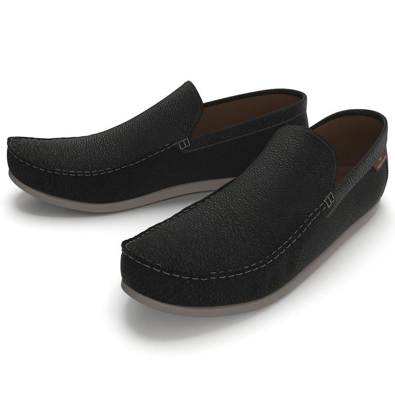 3d model of man shoes 8 black