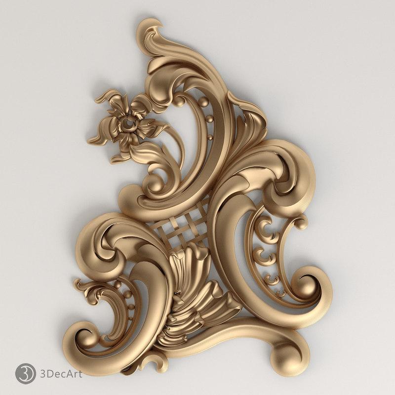 3d model carved composition