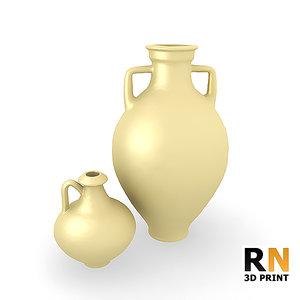 3d print roman pottery model