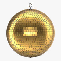 3d disco ball gold