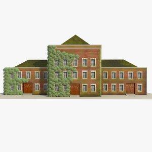 school building 2 3d 3ds