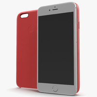 iphone 6 silver case 3d model