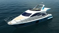 Azimut 60 Flybridge Yacht Low Poly