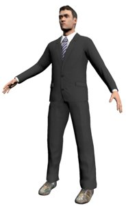 human man business 3d 3ds