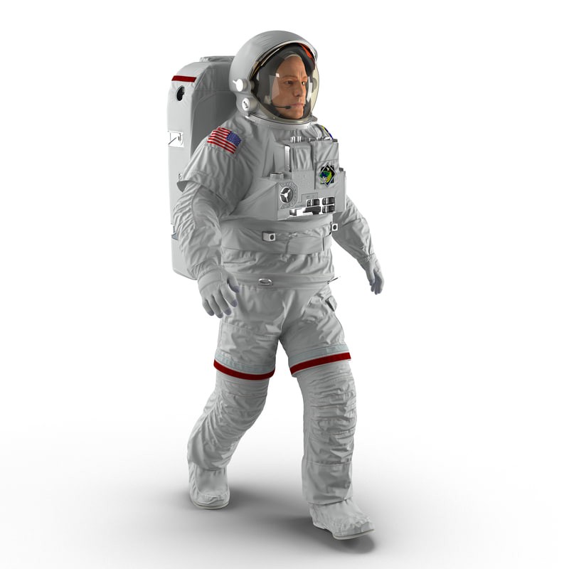 3d model of astronaut nasa extravehicular mobility