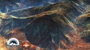 Rocky desert mountains North Africa