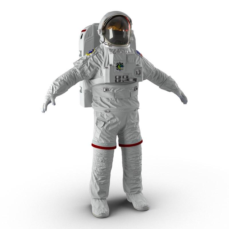 3d nasa space suit extravehicular model
