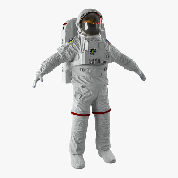 3d nasa space suit extravehicular model