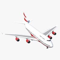 rigged airliner 3d model