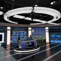Virtual TV Studio News Set 27