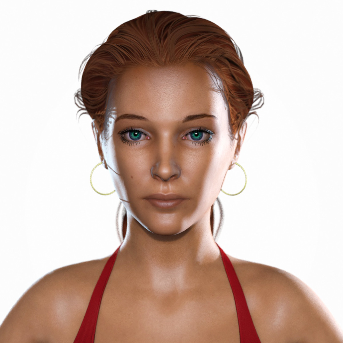 3d model athena r2 young woman