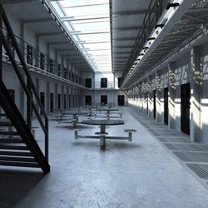 interior jail 3d model